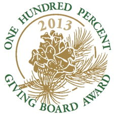 Logo for 100 percent giving by board