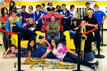 Photograph of Carson High Jazz Band 2013