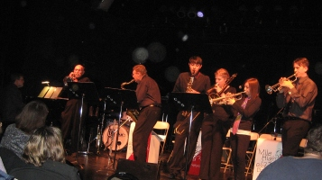 Photograph of 'intergenerational combo' performing on the    2010 Jazz Extravaganza
