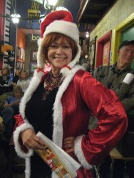 Photograph of Rita Geil dressed as Mrs. Claus